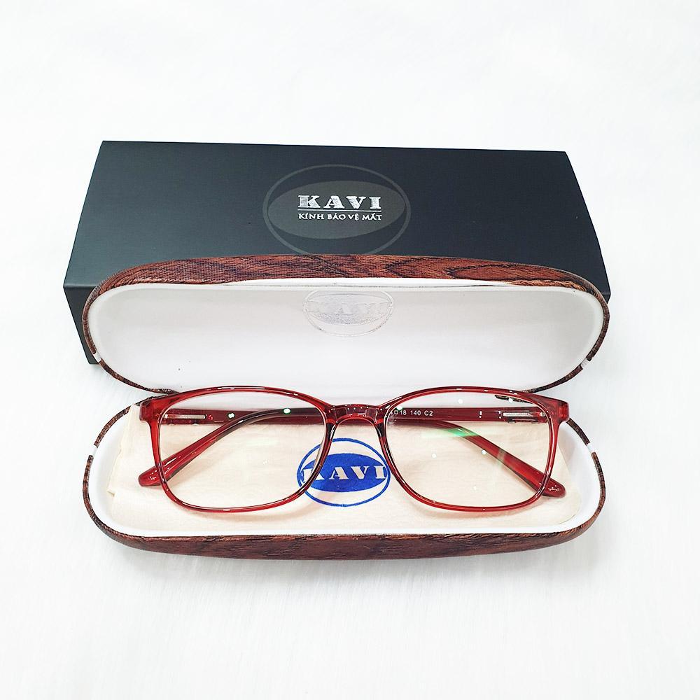 A034 - Gọng kính cận nhựa dẻo TR90 màu đỏ