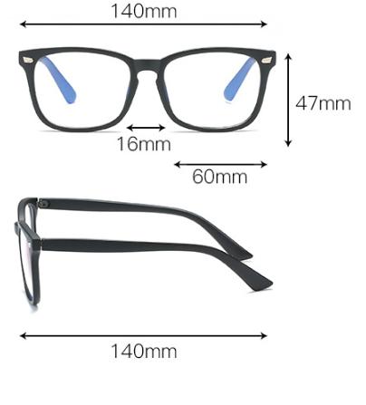 kích thước kính bảo vệ mắt chống ánh sáng xanh kv009