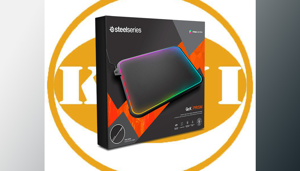 Bàn di chuột SteelSeries QcK Prism (Dual Surfaces / 360 RGB LED)