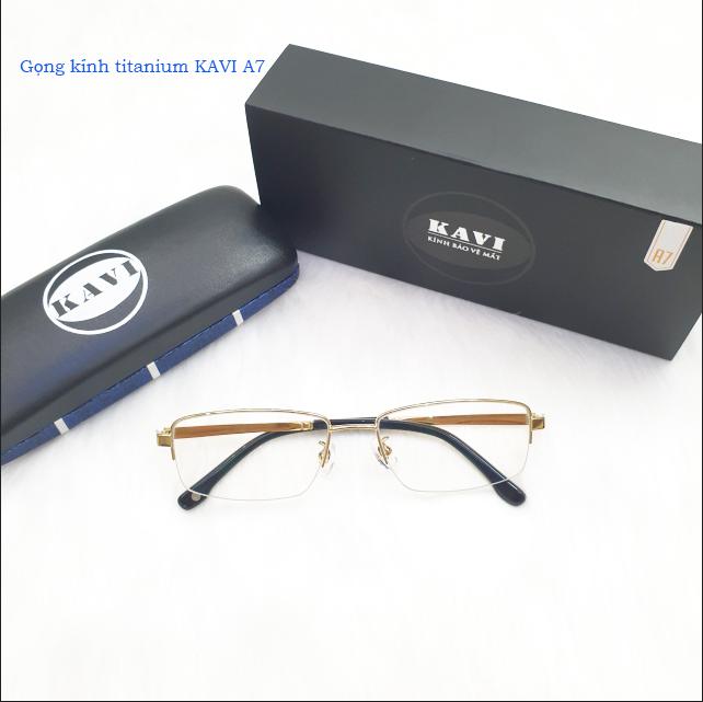 Gọng kính titanium KAVI A7 vàng