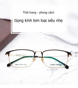 GK304 - Gọng kính cận nửa viền nam Hàn Quốc