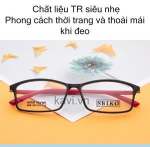 GK109 - Gọng kính vuông cổ điển TR90