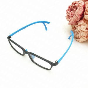 Gọng kính cận học sinh có kẹp tai chống rơi A142 màu xanh lam