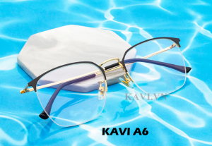 Kính chống ánh sáng xanh gọng Titan Kavi A6