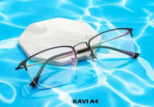 Kính chống ánh sáng xanh gọng Titan Kavi A4