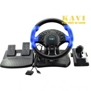 Bộ Vô Lăng Điều Khiển Chơi Game 5 trong 1 Kavi - KV002
