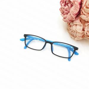 A142 - Gọng kính cận học sinh có kẹp tai chống rơi màu xanh lam