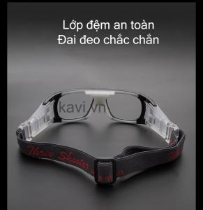 KD102 - Gọng kính cận đá bóng màu trắng