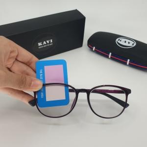 Kavi S4 – Kính đổi màu chống ánh sáng xanh mắt tròn cho nữ