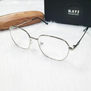 KAVI132 - Kính Chống Ánh Sáng Xanh Gọng Kim Loại bạc