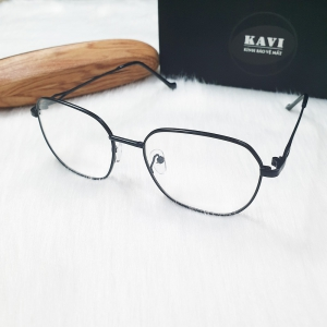 KAVI132 - Kính Chống Ánh Sáng Xanh Gọng Kim Loại đen