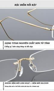 đặc điểm nổi bật của kính chống ánh sáng xanh gọng titanium kavi a10