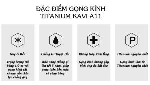 Đặc điểm kính không viền gọng Titan Kavi A11