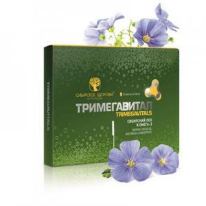 Thực phẩm chức năng Trimegavitals. Siberian linseed oil and omega-3 concentrate